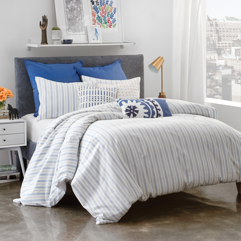 duvet red covers stripe crib sheet ticking bedding white striped bedroom cover carousel designs