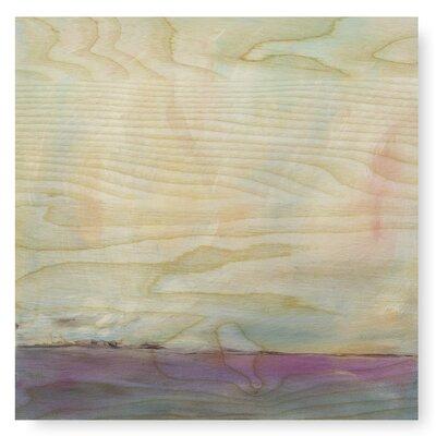 Calme au loin par julia contacessi peinture impression sur plaque