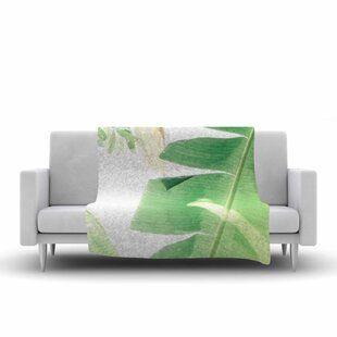 Ann Barnes Banana Leaf I Fleece Throw