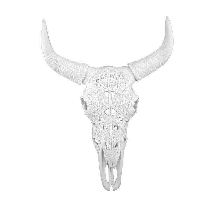 17 Polyresin Bull Skull Wall Décor