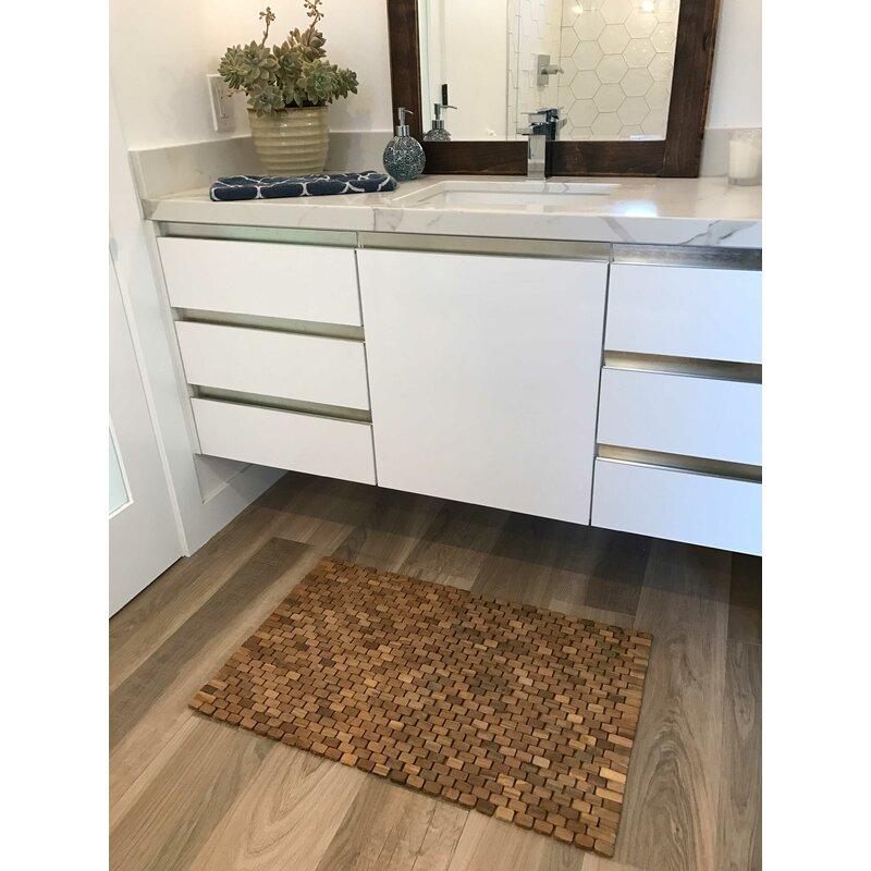 Oversized Solid Teak Indoor Outdoor Floor Mat