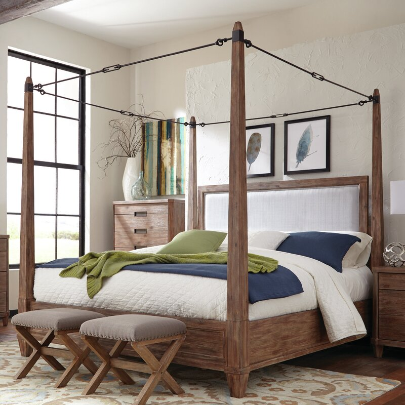Canpoy Bed donny osmond madeleine upholstered canopy bed & reviews | wayfair