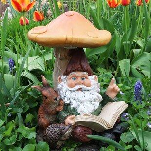 Miss Book Worm Bernard The Outdoor Garden Gnome With Statue