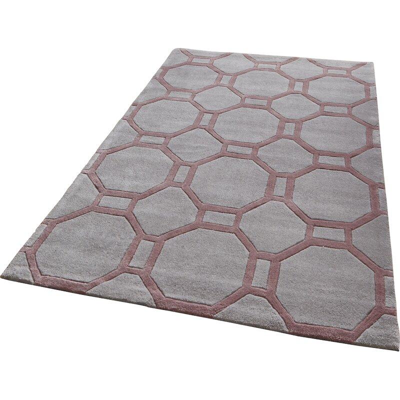 urban facettes handgetufteter teppich duhon in grau rosa. Black Bedroom Furniture Sets. Home Design Ideas
