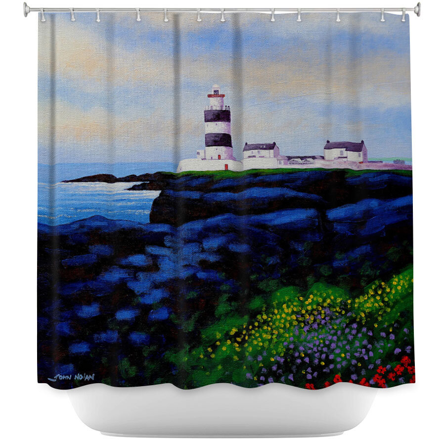 East Urban Home Hook Lighthouse I Shower Curtain