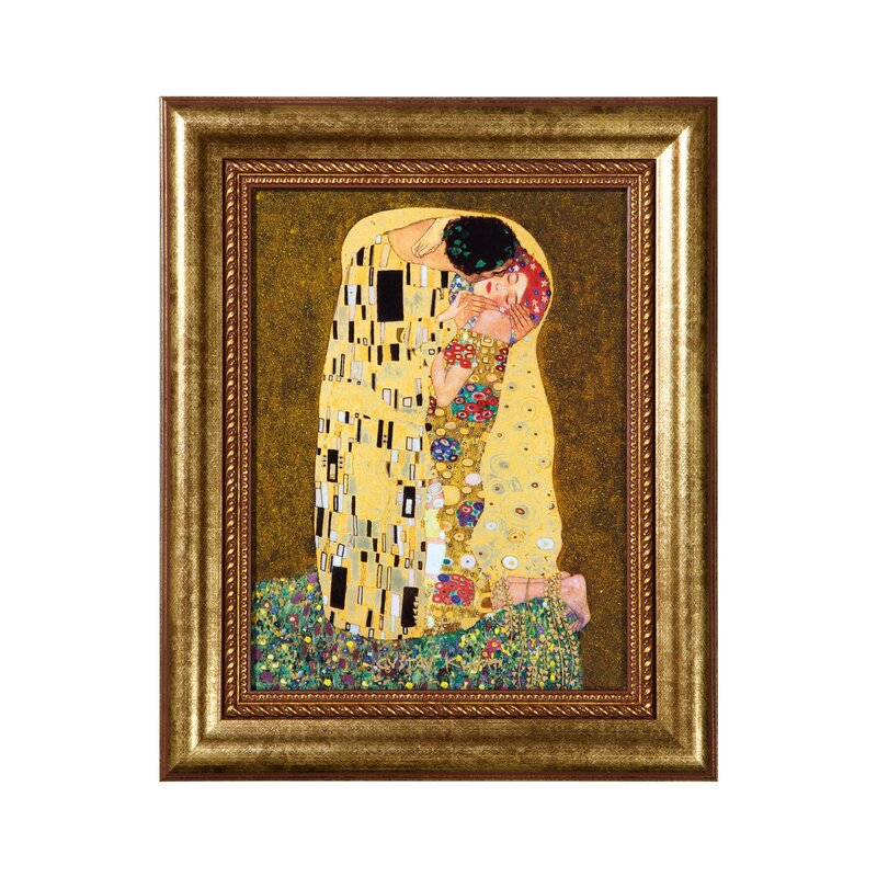Goebel \'The Kiss\' by Gustav Klimt Framed Graphic Art Print on ...
