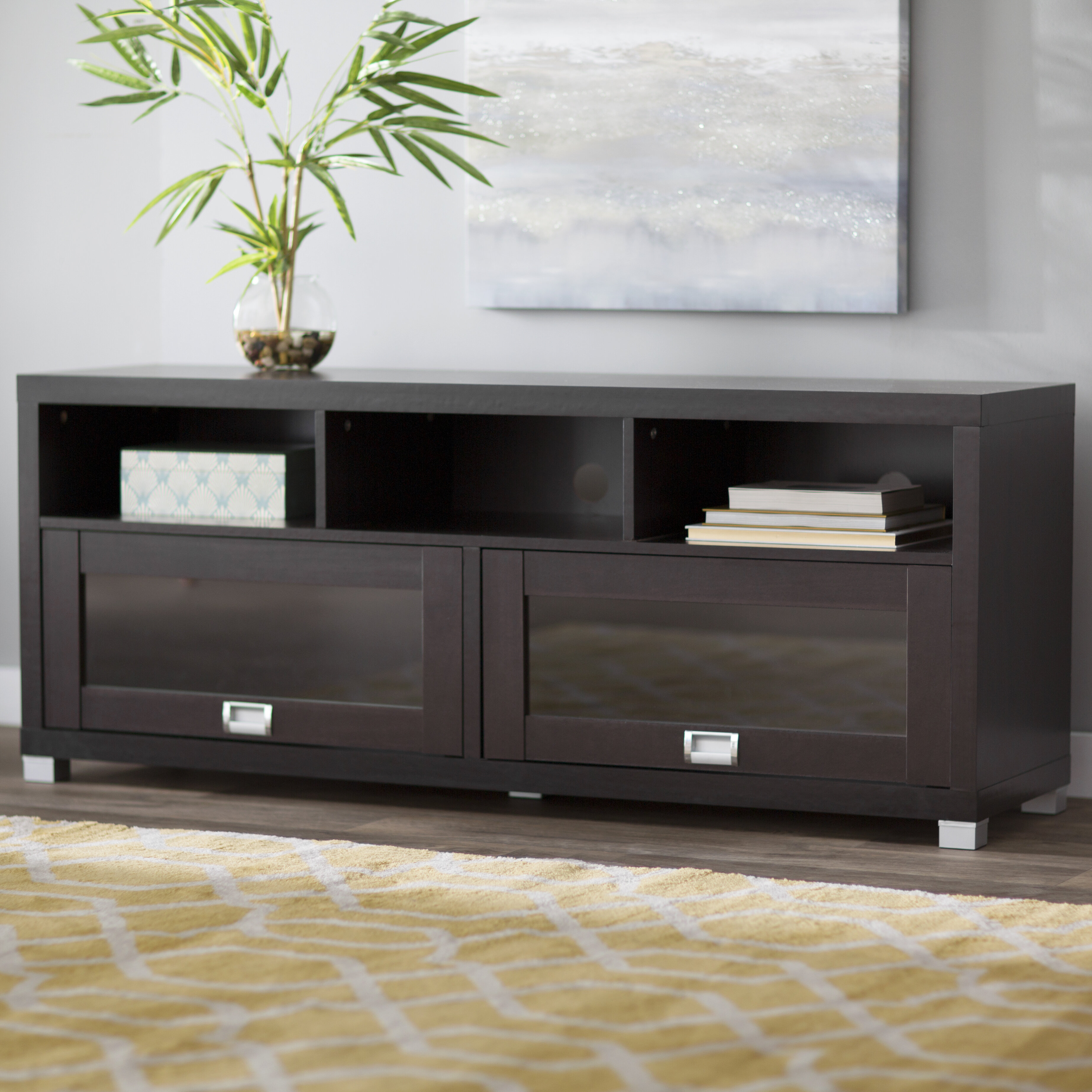 Latest T V Stand Designs : Off white modern decorative tv unit warranty year rs