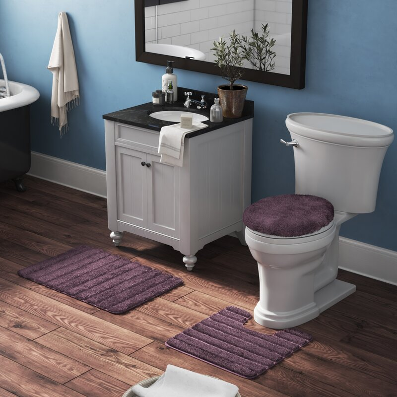 Admirable Nova Luxury Nylon 3 Piece Bath Rug Set Andrewgaddart Wooden Chair Designs For Living Room Andrewgaddartcom