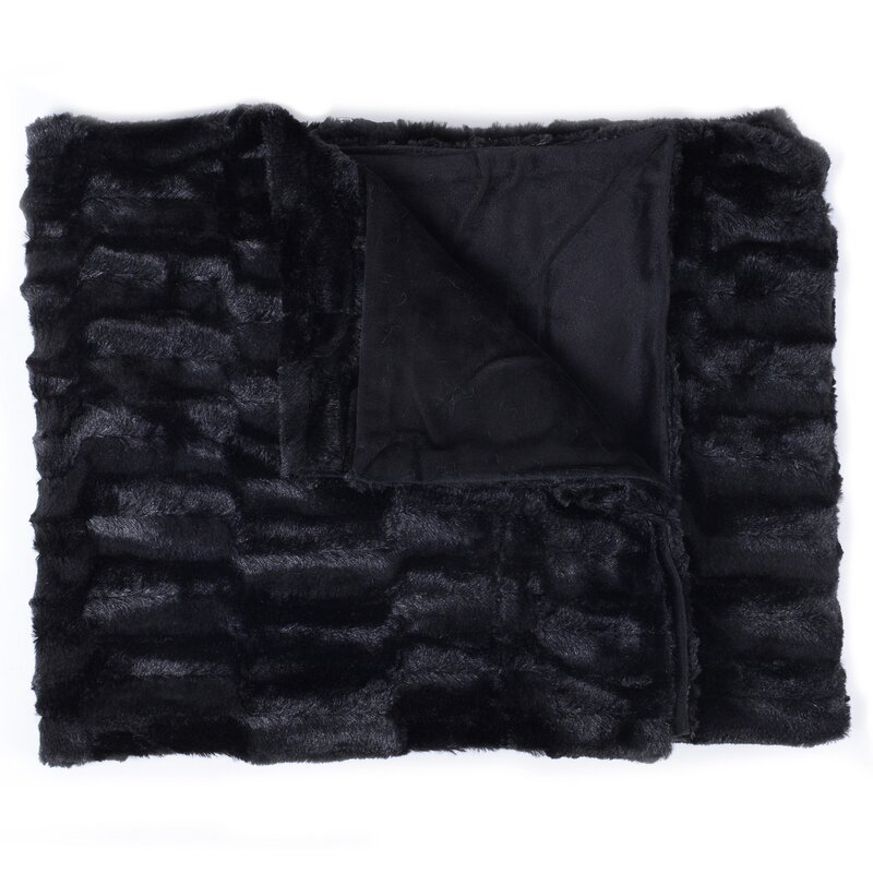 Sweet Home Collection Box Decorative Reversible Faux Fur