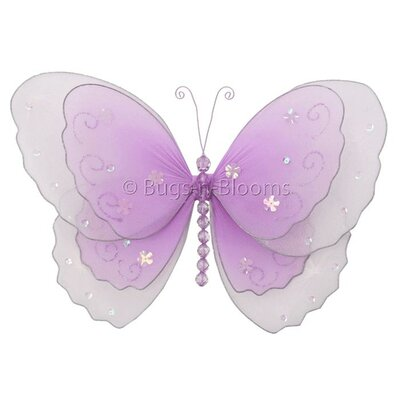 Harriet Bee Kristopher Butterfly Hanging Multi-Layered Nylon 3D Wall ...