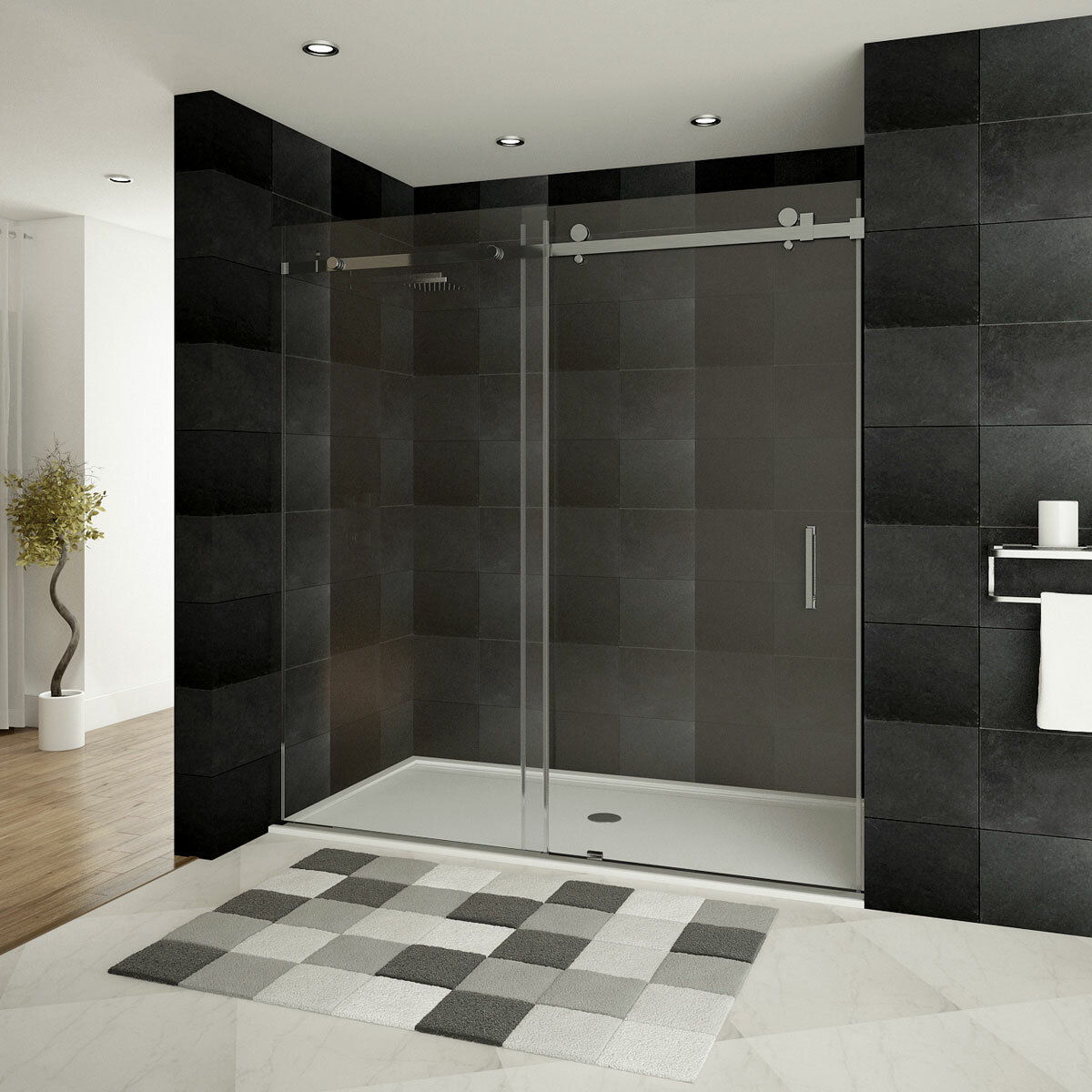 Lesscare Ultra B 60 X 76 Single Sliding Shower Door Reviews