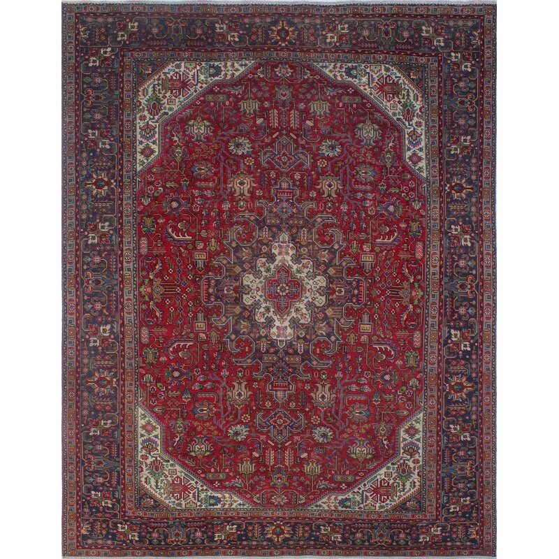 66f7a7f2ed Bloomsbury Market One-of-a-Kind Cannonleague Vintage Distressed Hand  Knotted Wool Red Area Rug | Wayfair