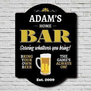 Home Bar Personalized Man Cave Sign Wall Décor