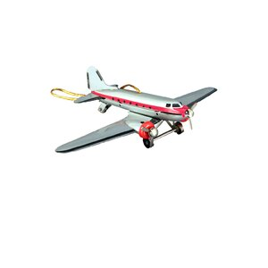 Collectible DC-3 Airplane Tin Ornament Tree Topper