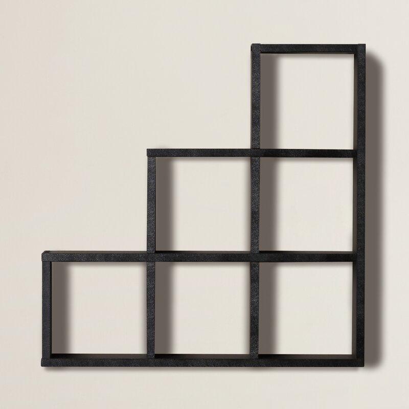 Brayden Studio Bermondsey Stepped 6 Cubby Decorative Wall Shelf ...