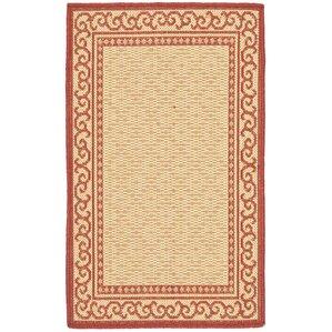 Bexton Oriental Red/Natural Indoor/Outdoor Area Rug (Set Of 2)