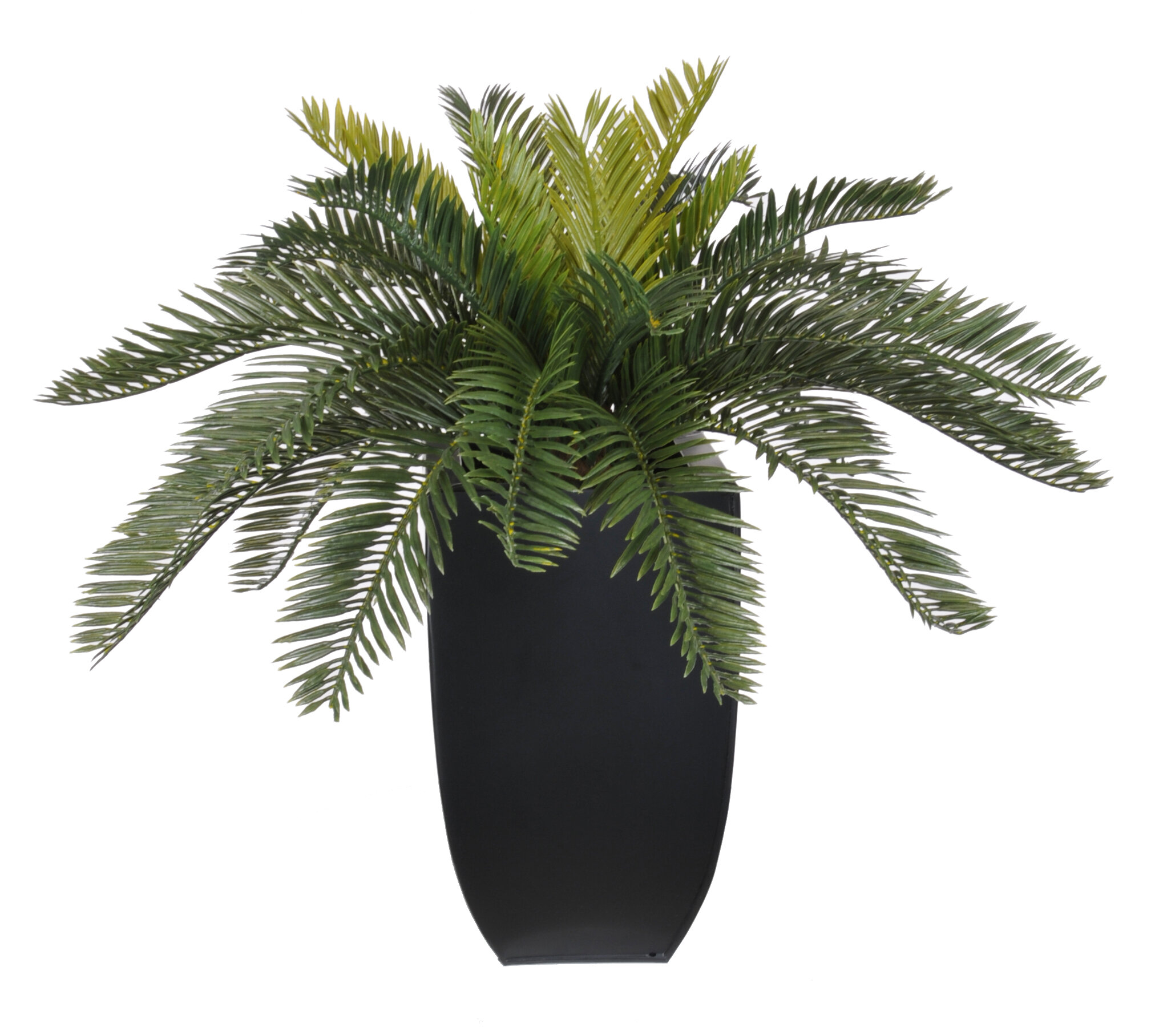 House Of Silk Flowers Artificial Cycas Palm Floor Plant In Planter