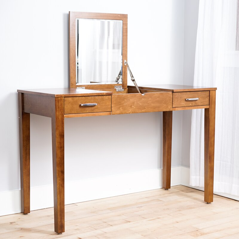 vanity desk without mirror. Haven Home Vanity Desk With Mirror Hives  Honey Reviews Wayfair