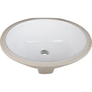Ceramic Oval Undermount Bathroom Sink