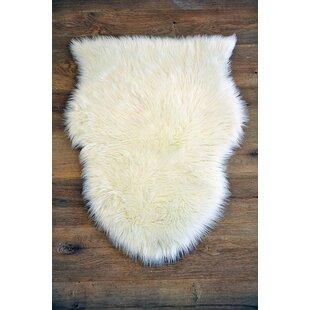 Buy clear Faux Sheepskin Area Rug ByKroma Carpets