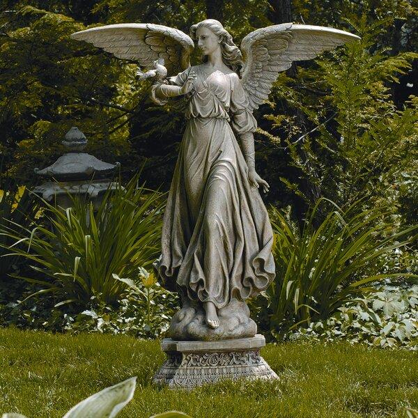 with bird angel walmart mustangrobotics outdoor wings statues garden club statue canada studio feeder