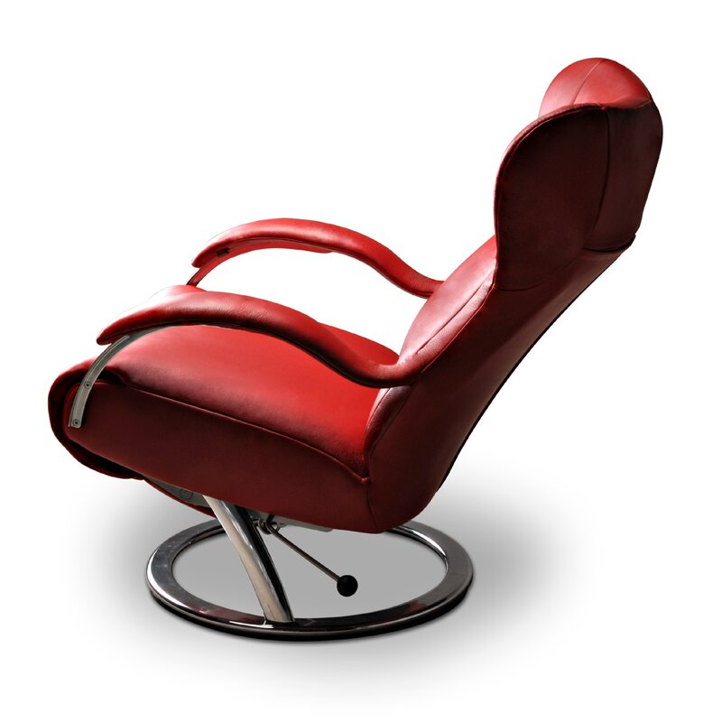 diva leather manual swivel recliner