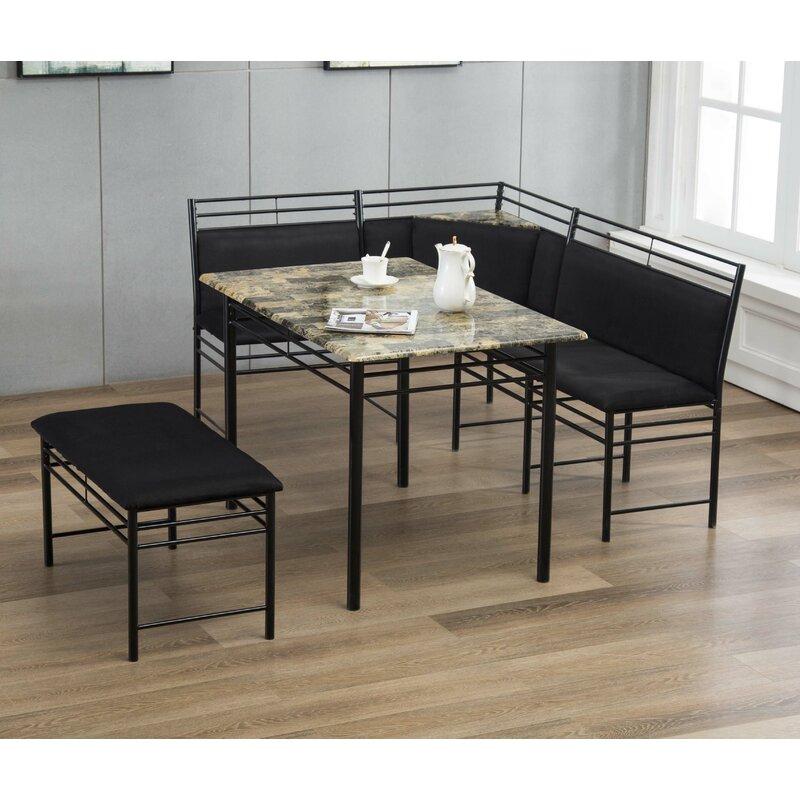 Winston Porter Tyrell Breakfast Nook 2 Piece Upholstered Bench Set Wayfair