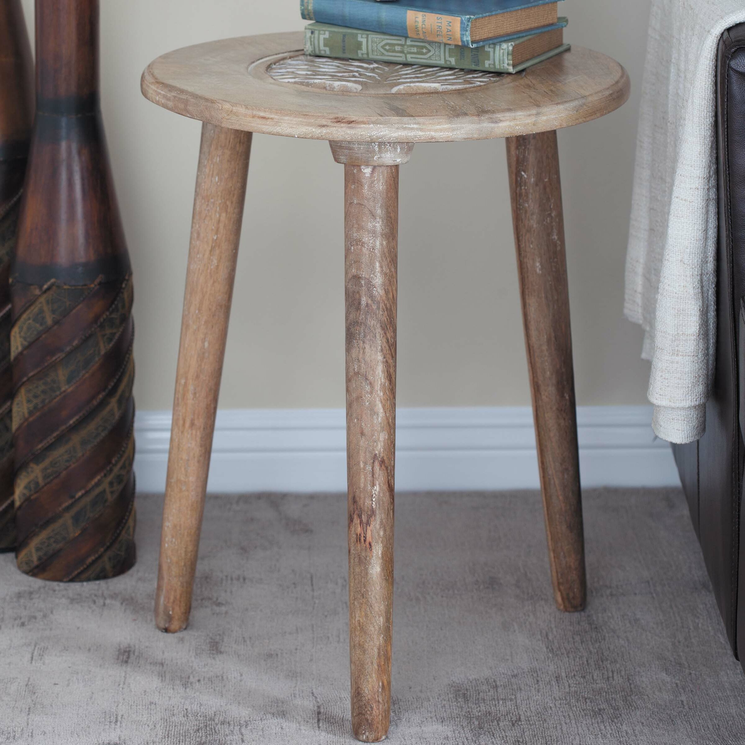 Gentil Cole U0026 Grey Tripod End Table | Wayfair