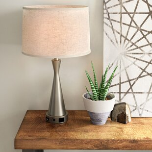 nightstand lamp with usb port usb powered omar 26 bedside usb table lamps youll love wayfair