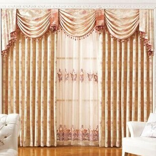 Luxury European Nature Fl Blackout Grommet Single Curtain Panel