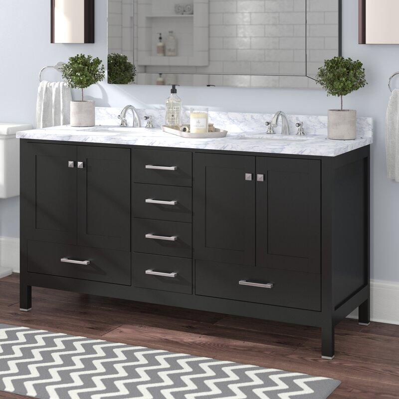 Arnab Transitional 59 Double Bathroom Vanity Set