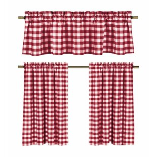Fitzgibbon 3 Piece Kitchen Curtain Set (Set Of 2)