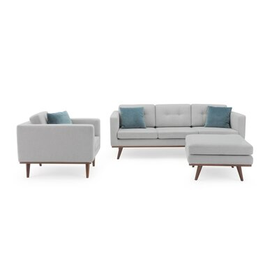 George Oliver Eye 3 Piece Living Room Set Upholstery Color: Light Gray
