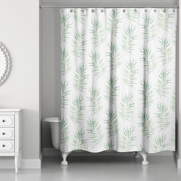 Bayou Breeze Risha Palm Leaf Shower Curtain | Wayfair