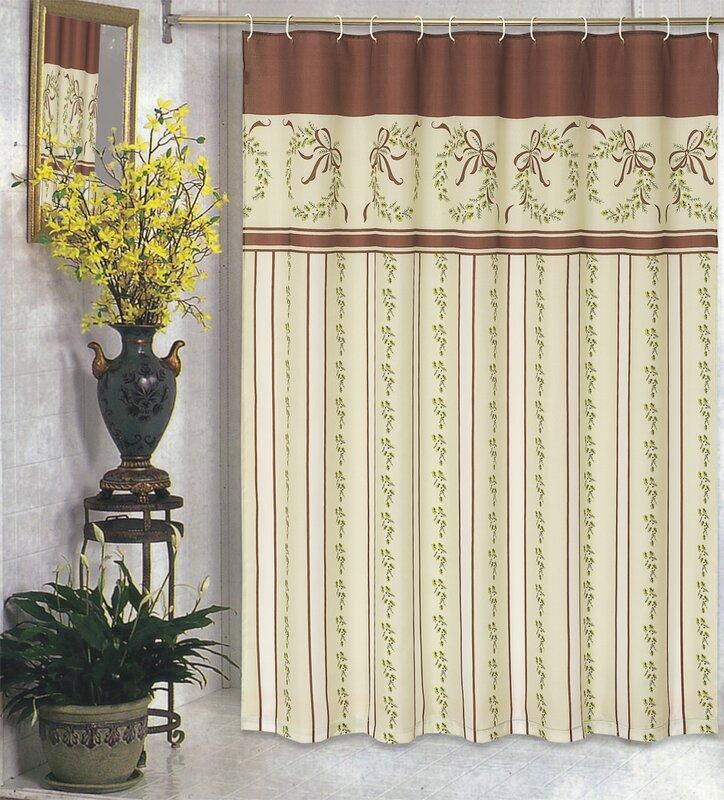 Charlton Home Kiska Christmas Holiday Shower Curtain & Reviews | Wayfair