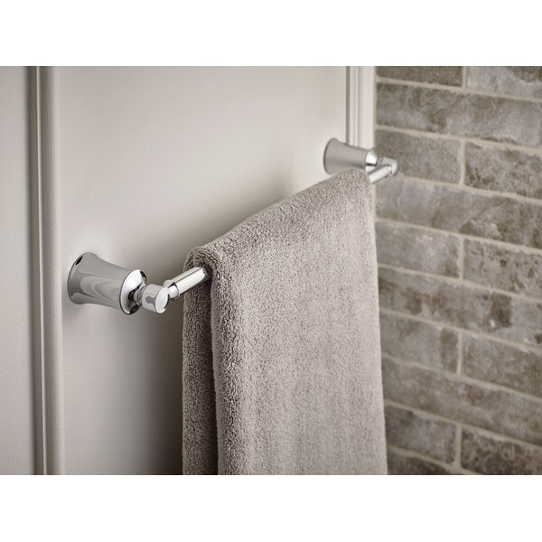 Yb2118ch Bn Orb Moen Dartmoor 18 Wall Mount Towel Bar Reviews Wayfair