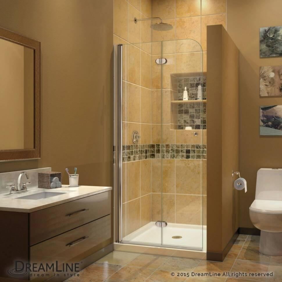 Dreamline Aqua Fold 335 X 72 Folding Frameless Shower Door - Contemporary-bathroom-vanities-from-dreamline
