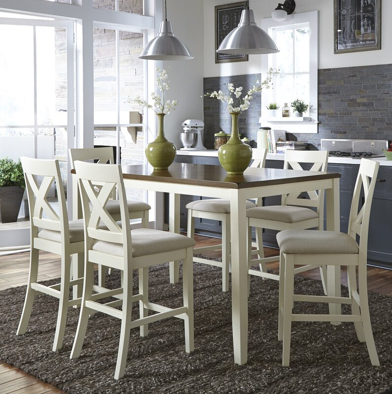 Stines 7 Piece Counter Height Breakfast Nook Dining Set
