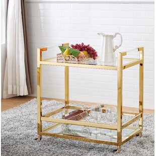 Geiser Acrylic Bar Cart