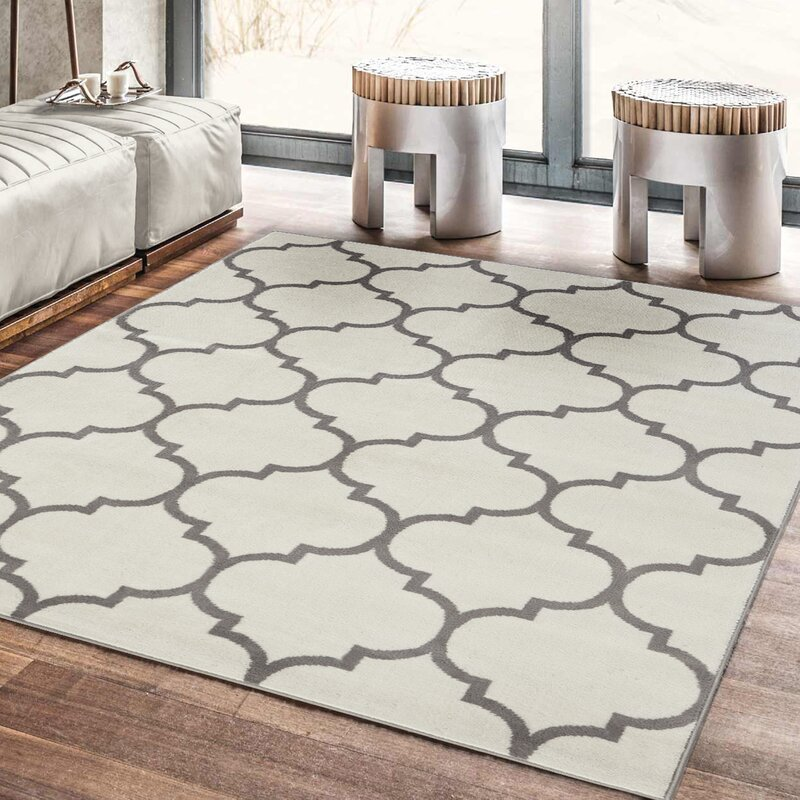 ottomanson royal moroccan trellis design area rug reviews wayfair