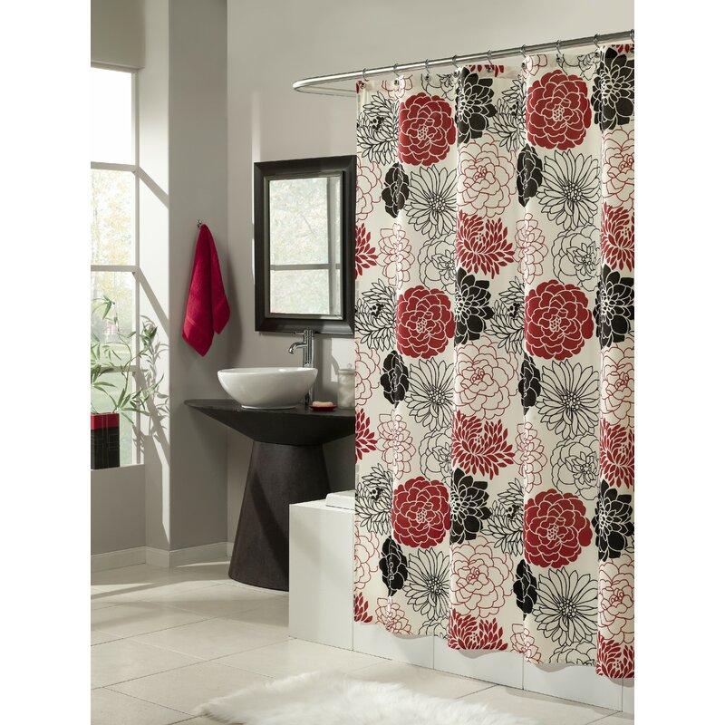 Full Bloom Microfiber Shower Curtain