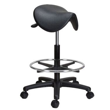 Height Adjustable Saddle Stool with Foot Ring  sc 1 st  Wayfair & Perch Chairs u0026 Stools Height Adjustable Saddle Stool with Foot ... islam-shia.org