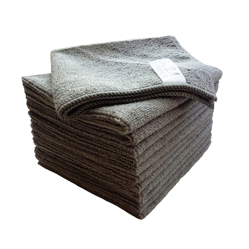 AG Gapital Goza 12 Pieces in Set Washcloth Towel Set  Finish: Gray
