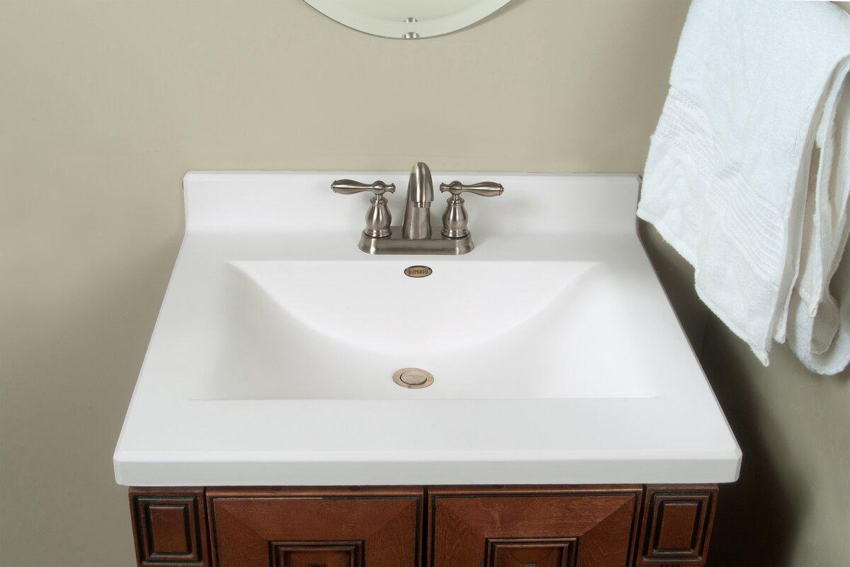 Imperial Center Wave Bowl 25 Quot Single Bathroom Vanity Top