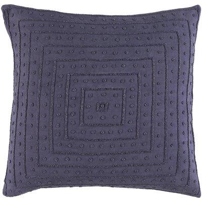 House of Hampton Hyman Throw Pillow Cover Size: 18 H x 18 W x 1 D, Color: Violet