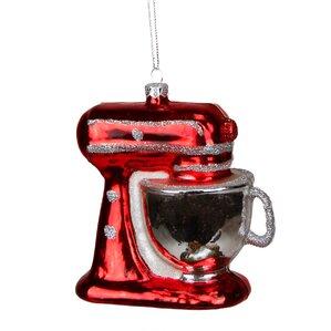 Glittered Kitchen Mixer Appliance Christmas Ornament