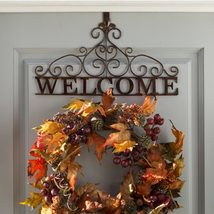 Rustic Welcome 1535 Wreath Holder