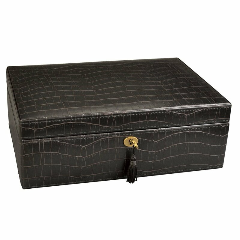 Ikee Design Luxury Lockable Leatherette Jewelry Box Reviews Wayfair
