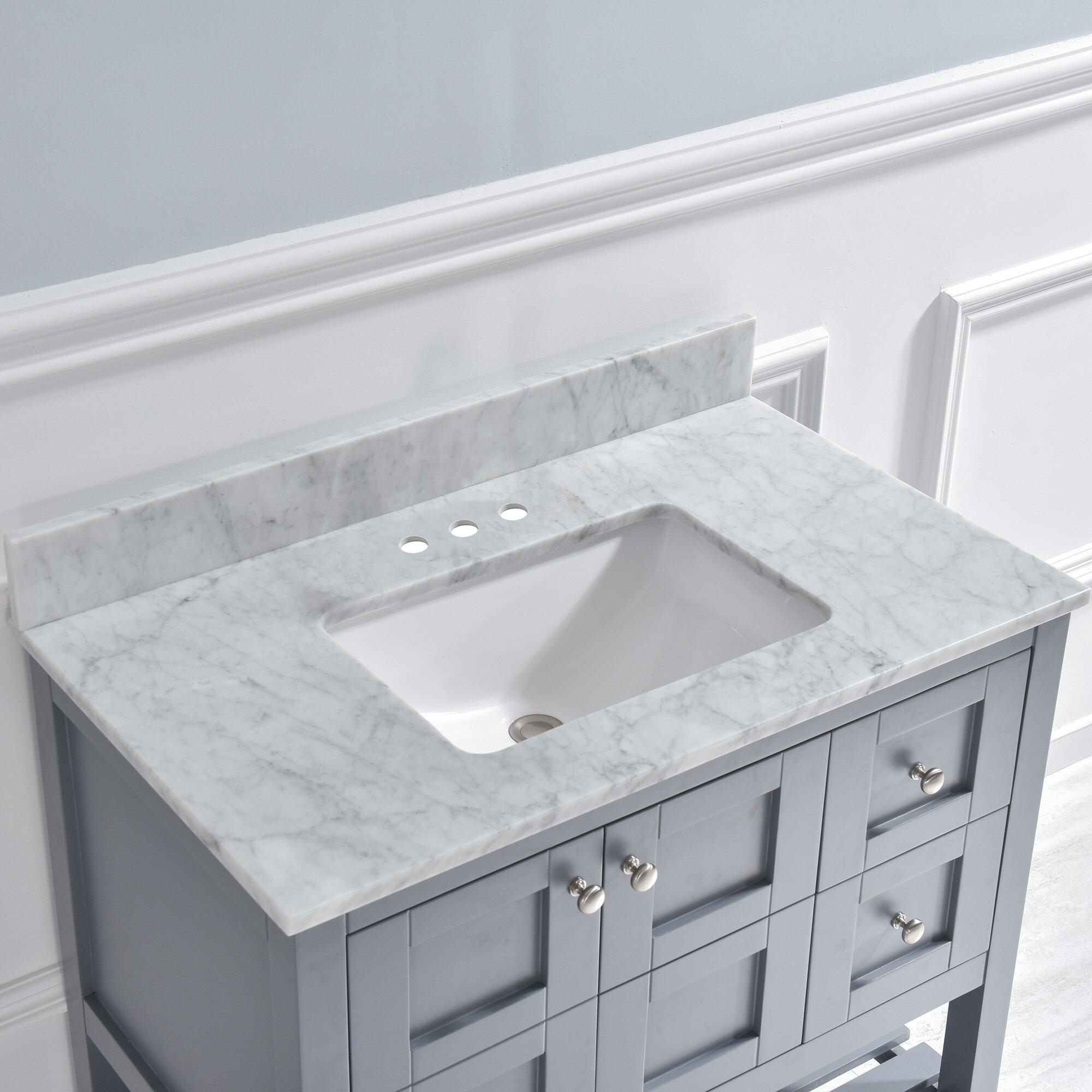Brilliant 37 Single Bathroom Vanity Top Beutiful Home Inspiration Semekurdistantinfo