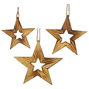 3 Piece Star Shaped Ornament Set